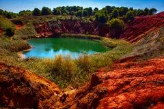 Pedreira da bauxite Foto de Stock Royalty Free