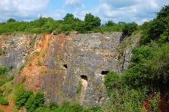 Pedreira da pedra calcária Foto de Stock Royalty Free
