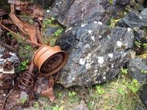 Pedreira de Brixham da destruição do carro Fotos de Stock