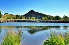Pedreira de Cawfields pela parede de Hadrians fotos de stock royalty free