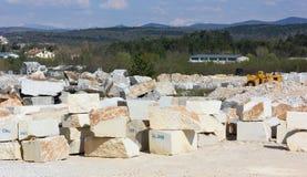 Pedreira de mármore Imagens de Stock