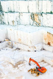 Pedreira de mármore branca Carrara, Italy Foto de Stock Royalty Free