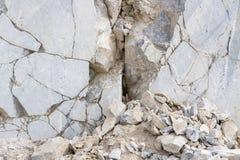 Pedreira de mármore, mármore branco Imagens de Stock