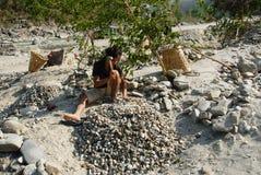 Pedreira de pedra do rio Fotografia de Stock