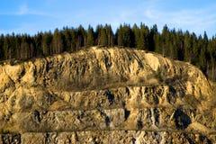 Pedreira de rocha Fotos de Stock