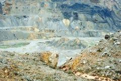 Pedreira do cobre, do ouro e da prata Fotos de Stock