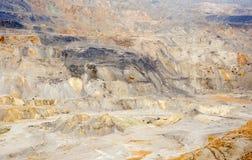 Pedreira do cobre, do ouro e da prata Fotos de Stock Royalty Free