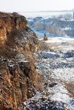 Pedreira do inverno Fotos de Stock Royalty Free