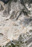 Pedreira do mármore de Carrara foto de stock royalty free