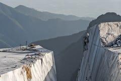 Pedreira do montanha e a de mármore Foto de Stock Royalty Free