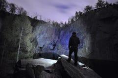 Pedreira na escuridão Imagem de Stock