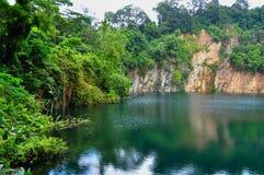 Pedreira na natureza de Bukit Timah Foto de Stock