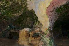 Pedreira velha do enxofre de Etrurian, parque natural de Monterano, Itália Fotografia de Stock Royalty Free
