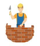 Pedreiro isolado do construtor ilustração royalty free