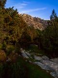 Pedriza& x27; s-Wälder und -berge Stockfotos