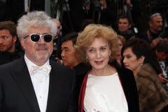 Pedro Almodovar und Marisa Paredes lizenzfreie stockfotografie