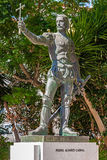 Pedro Alvares Cabral statue, placed in front of the Graca Church Stock Photography