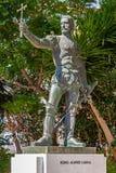 Pedro Alvares Cabral staty som framme förläggas av Graca Church Arkivbild