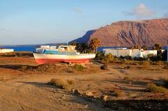 Pedro Barba village on Graciosa island Royalty Free Stock Photography