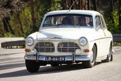 Pedro Black drives a Volvo 122S Stock Photo