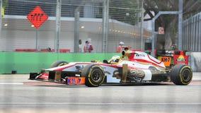 Pedro de la Rosa που συναγωνίζεται F1 στα Grand Prix Σινγκαπούρης Στοκ Εικόνες