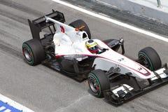 Pedro de la Rosa bij Maleise F1 Royalty-vrije Stock Afbeeldingen