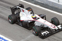 Pedro de la Rosa am Malaysian F1 Lizenzfreie Stockbilder