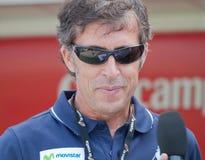 Pedro Delgado chez Vuelta 2012 photo stock