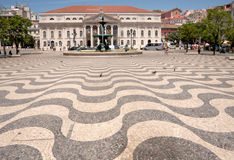 Pedro IV Square, Lisbon, Portugal Stock Images