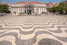 Pedro IV Square, Lisbon, Portugal Stock Images