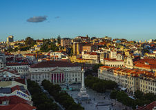 Pedro IV Square in Lisbon Royalty Free Stock Photography