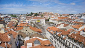 Pedro IV square in Lisbon. View to the Rossio square royalty free stock photo