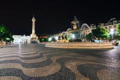 Pedro IV square night Royalty Free Stock Image