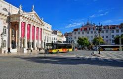Pedro IV vierkant, Lissabon Stock Foto's