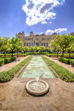 Pedro Luis Alonso gardens and the Town Hall building in Malaga, Stock Photography