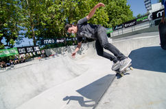 Pedro Mano. VISEU, PORTUGAL - JULY 22: Pedor Mano at DC Skate challenge by MEO on july 22, 2012 in Viseu, Portugal Stock Photo