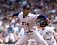 Pedro Martinez. Boston Red Sox ace Pedro Martinez. (Image taken from a color slide stock photo