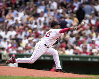 Pedro Martinez, Boston Rode Sox Stock Foto's