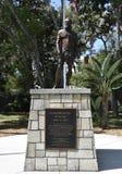 Pedro Menéndez de Avilés Staty och markör, St Augustine, Florida arkivfoton