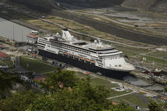 Pedro Miguel Locks i den Panama kanalen, Panama Royaltyfria Bilder