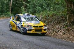 Pedro Peres in Rallye Centro De Portugal lizenzfreie stockfotos