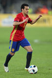 Pedro Rodriguez. Pedro Eliezer Rodriguez Ledesma striker of the Spanish National Football Team, pictured during the friendly match between Romania and Spain stock image
