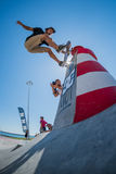 Pedro Roseiro κατά τη διάρκεια της πρόκλησης ΣΥΝΕΧΩΝ σαλαχιών Στοκ Εικόνες