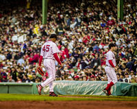 Pedro walks off the field. Stock Images