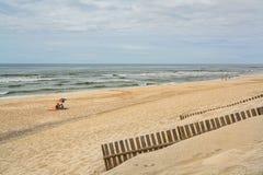 Pedrogao海滩在莱利亚,葡萄牙 库存图片
