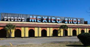 Pedros Mexiko-Shop südlich an der Grenze, South Carolina Stockbild