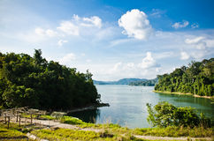 Pedu Lake. View of Lake Pedu in Kedah, Malaysia Royalty Free Stock Images
