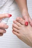Peducure, skin moisturizing Stock Photo