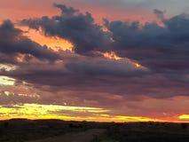 Pedy Sonne gesetztes Süd-Australien Coober Lizenzfreie Stockfotos