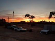 Pedy Sonnenaufgänge Coober australisch Stockbilder